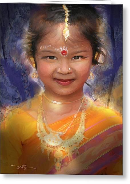 Treasure Of South Asia Greeting Card by Bob Salo