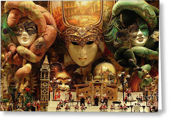 Treasures Of Venice Greeting Card by Bob Christopher