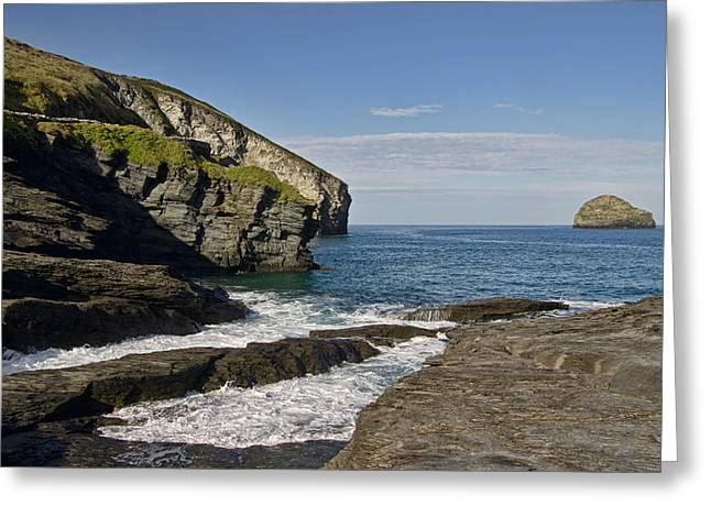 Trebarwith Strand In North East Cornwall Greeting Card