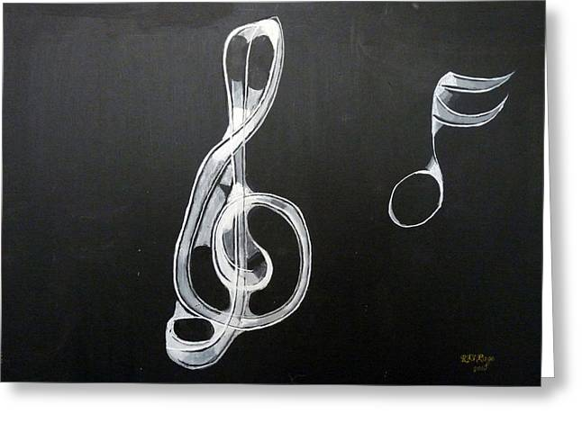 Treble Clef Greeting Card