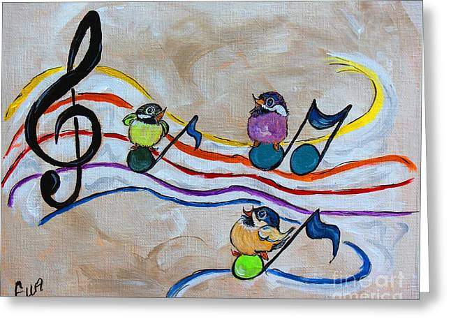 Treble Clef Trio Greeting Card