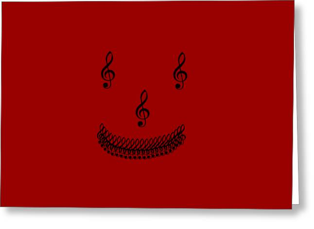 Treble Smile Greeting Card by Linsey Williams