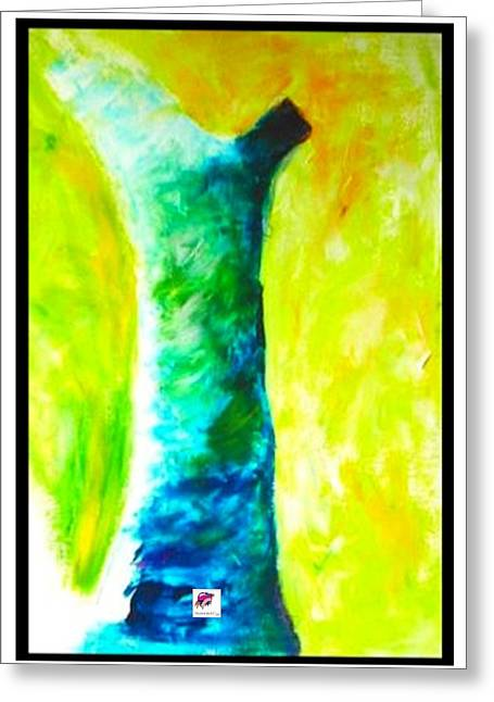 Greeting Card featuring the painting Tree 1 Peninsula Rain Forest by Carol Rashawnna Williams