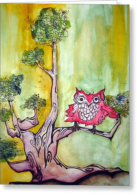 Tree 2 Greeting Card by Bonnie Rose Parent