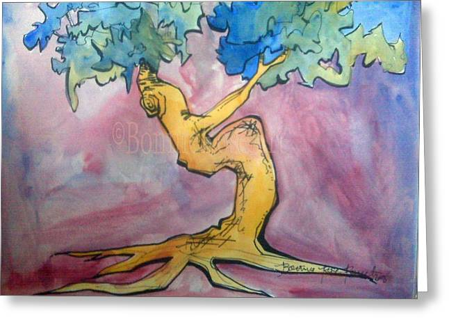 Tree 6 Greeting Card by Bonnie Rose Parent