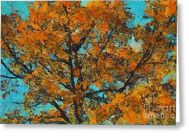 Tree Art 03 - Tlg03cc Greeting Card by Variance Collections