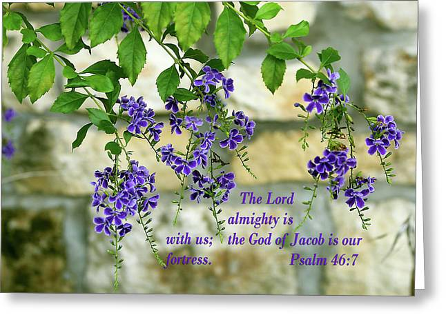 Tree Branches With Purple Flowers Ps.46 V 7 Greeting Card by Linda Phelps