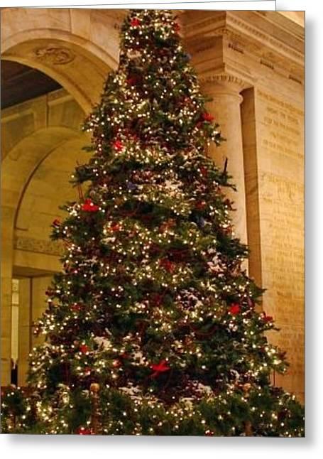 Tree Christmas Holiday Palace Columns Candles 37596 300x532 Greeting Card