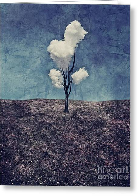 Tree Clouds 01d2 Greeting Card