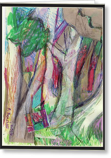 Tree Collage Greeting Card by Ruth Renshaw