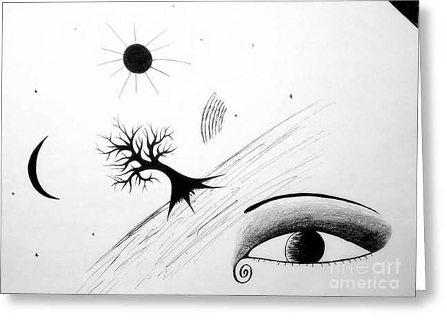Tree Consciousness Greeting Card by Samiksa Art
