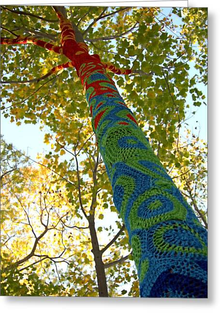 Tree Crochet Greeting Card