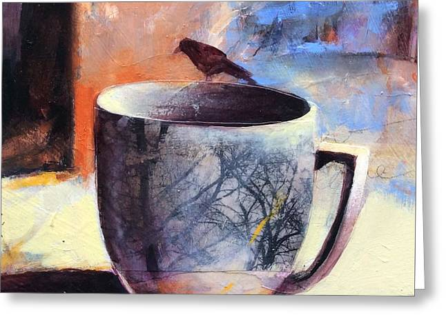 Tree Cup Greeting Card by Joan Fullerton