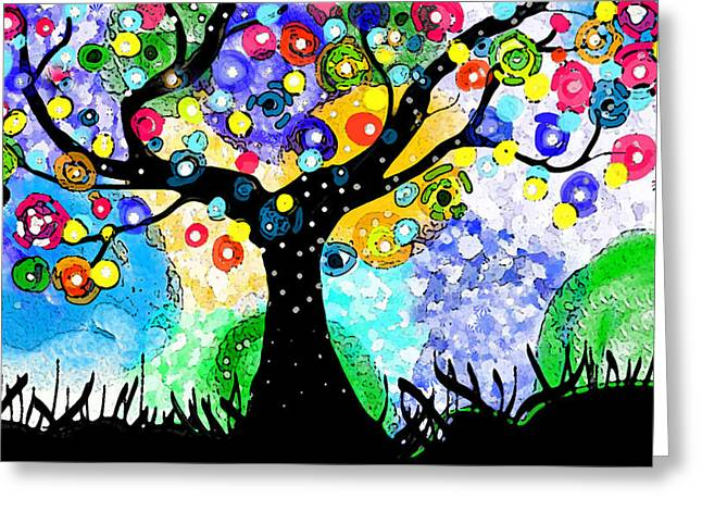 Tree Dance Greeting Card by Patricia Arroyo
