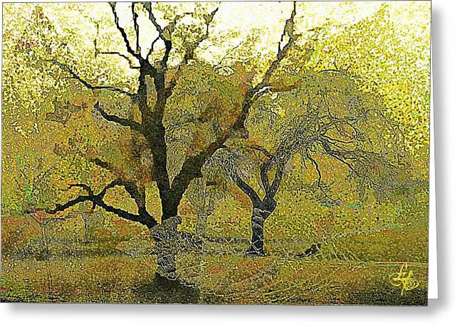 Tree Deconstructed 4 Greeting Card by Lynda Payton