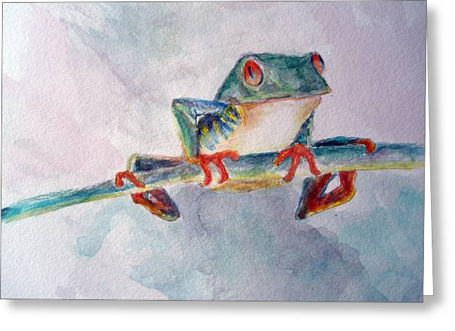 Tree Frog Greeting Card by Mike Segura
