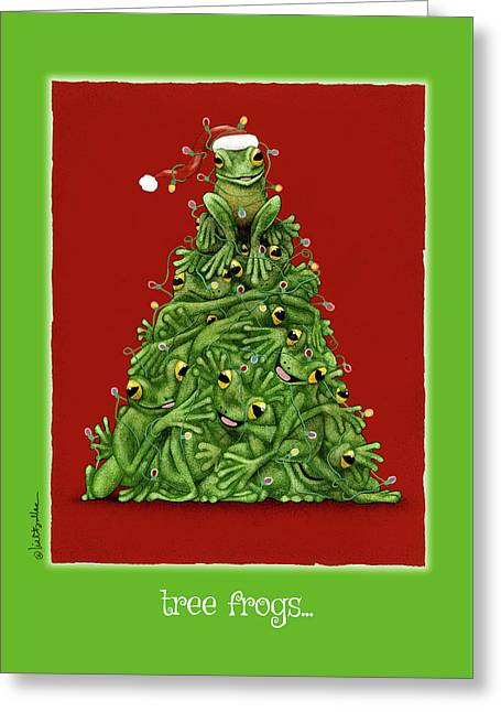 Tree Frogs... Greeting Card
