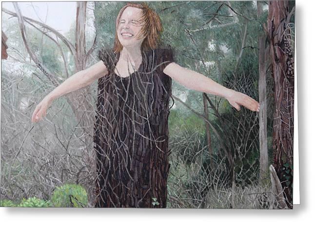 Tree Girl Greeting Card