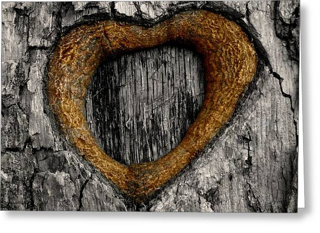 Tree Graffiti Heart Greeting Card