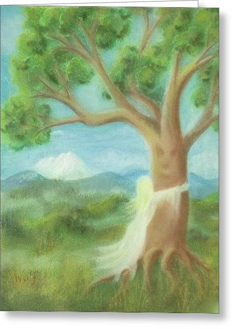 Tree Hugger Greeting Card