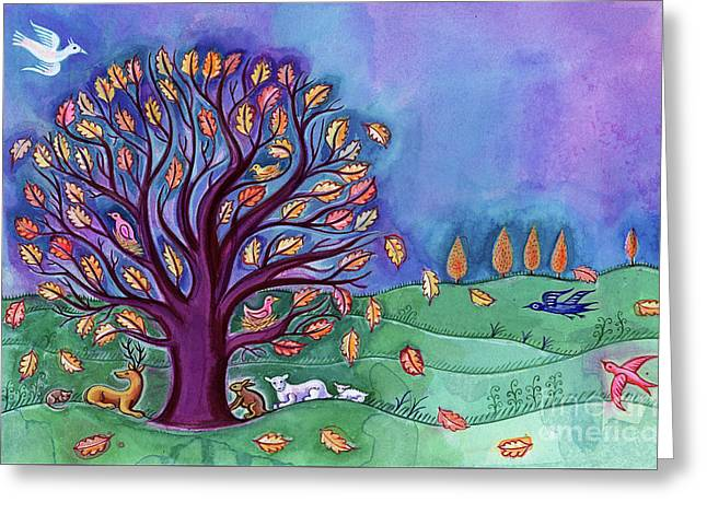 Tree In Autumn Greeting Card
