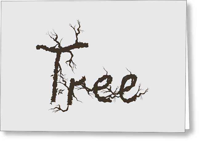 Tree Greeting Card by Martina Fagan