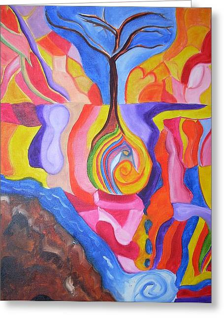 Tree Of Color Greeting Card by Joseph  Arico