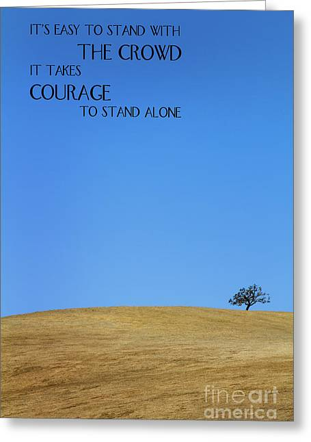 Tree Of Courage Greeting Card