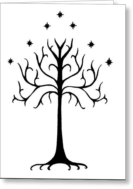 Tree Of Gondor Crest Greeting Card by Kayleigh Semeniuk