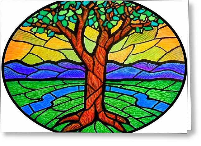 Tree Of Grace - Summer Greeting Card by Jim Harris