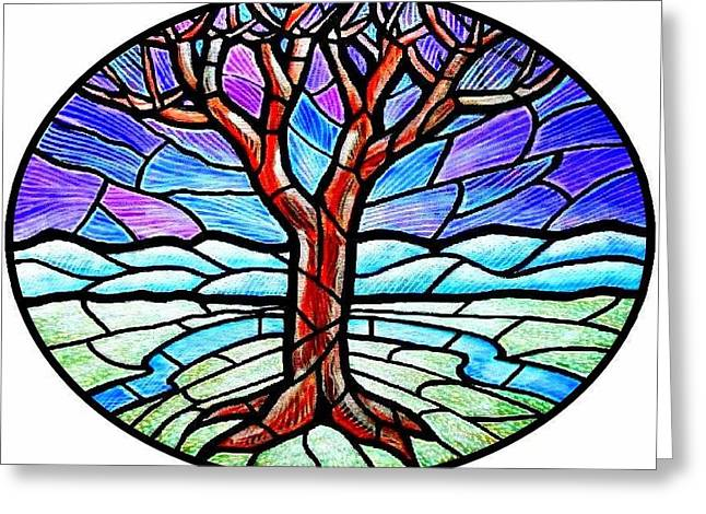 Tree Of Grace - Winter Greeting Card