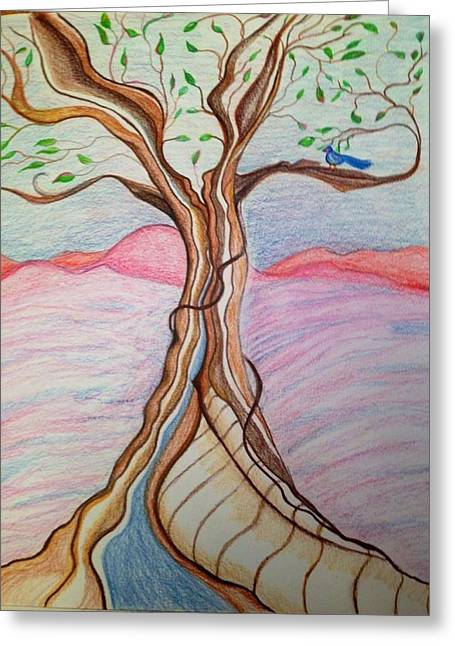 Tree Of Joy Greeting Card by Jan Nosakowski