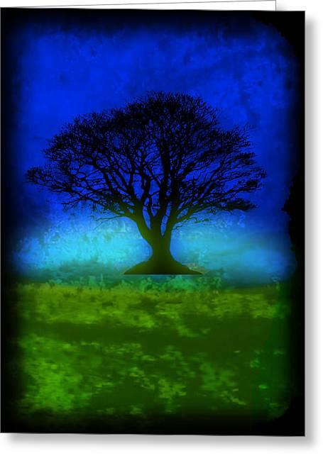 Tree Of Life - Blue Skies Greeting Card by Robert R Splashy Art
