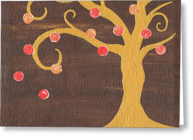 Tree Of Life - Right Greeting Card by Kristi L Randall
