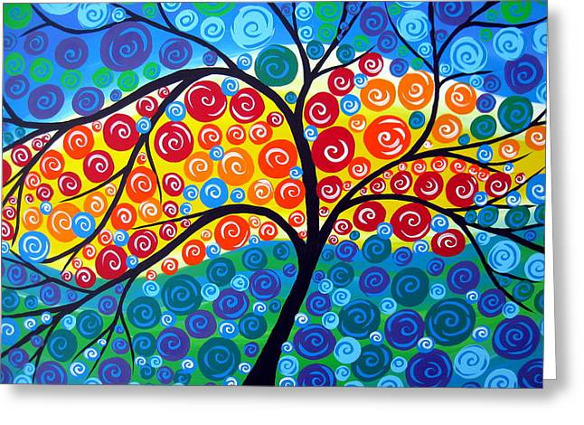 Tree Of Life 8 Greeting Card by Cathy Jacobs
