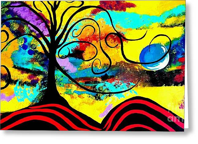 Tree Of Life Abstract Painting  Greeting Card