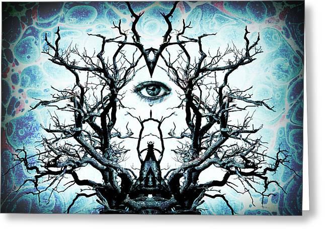 Tree Of Life Archetype Religious Symmetry Greeting Card