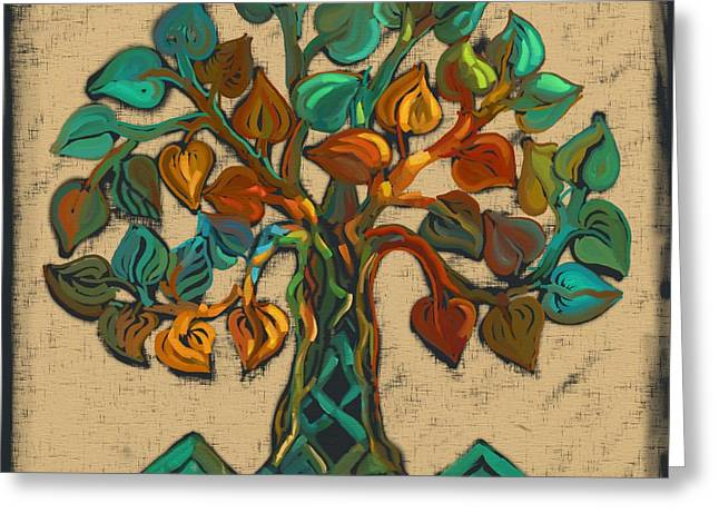 Tree Of Life Greeting Card by Carrie Joy Byrnes