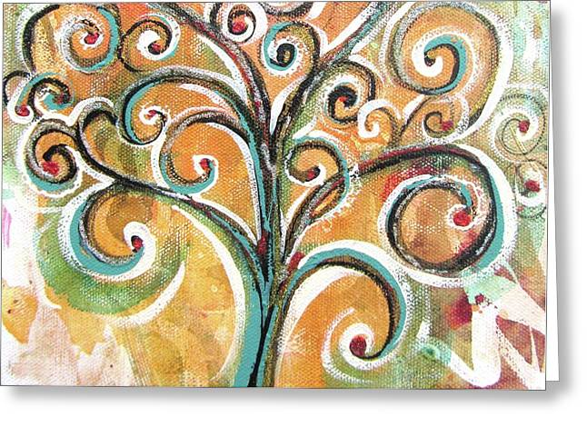 Greeting Card featuring the painting Tree Of Life by Chris Hobel