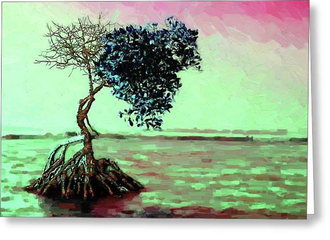 Tree Of Life - Crimson Tide Greeting Card