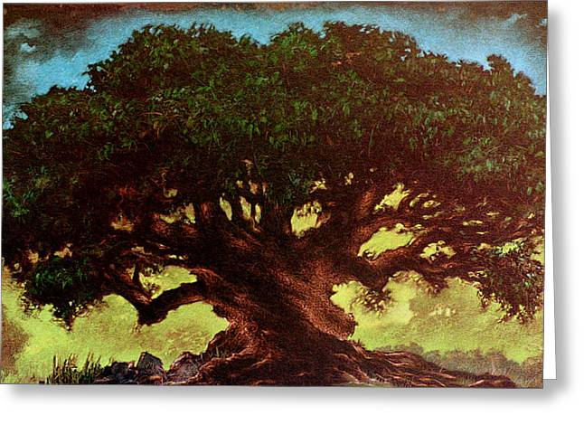 Fantasy Tree Pastels Greeting Cards - Tree of Life Greeting Card by Eric Bakke