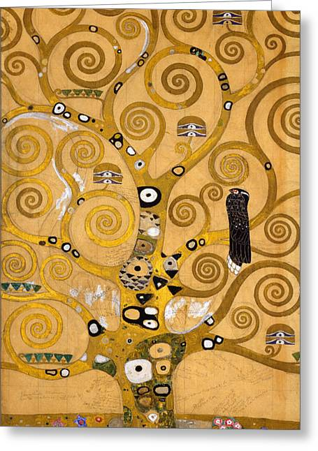 Tree Of Life Greeting Card by Gustav Klimt