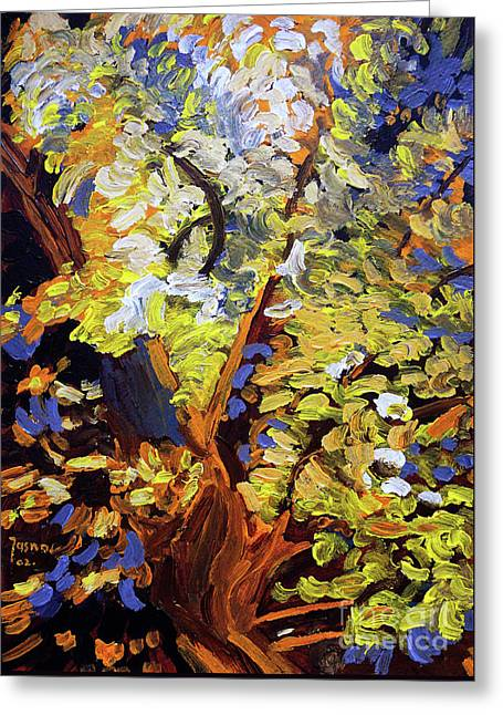 Tree Of Life Greeting Card by Jasna Dragun