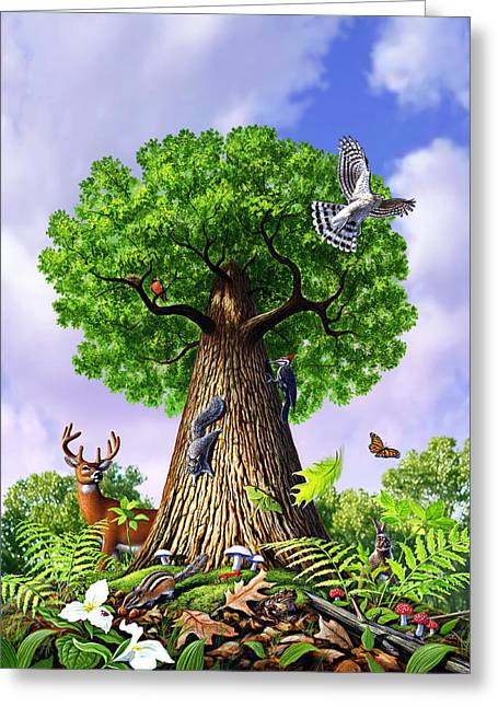 Tree Of Life Greeting Card by Jerry LoFaro