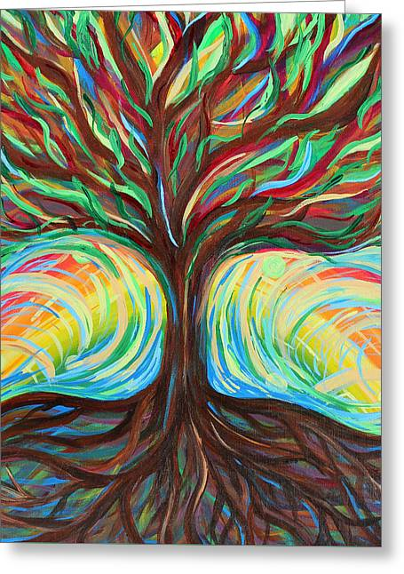 Tree Of Life Greeting Card by Katie Landon