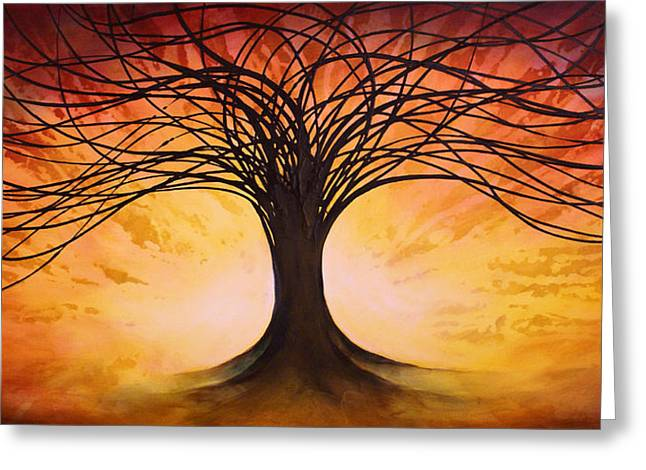 Tree Of Life Greeting Card by Michael Lang