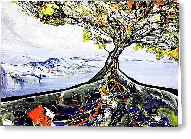Tree Of Life Greeting Card by Piero Manrique