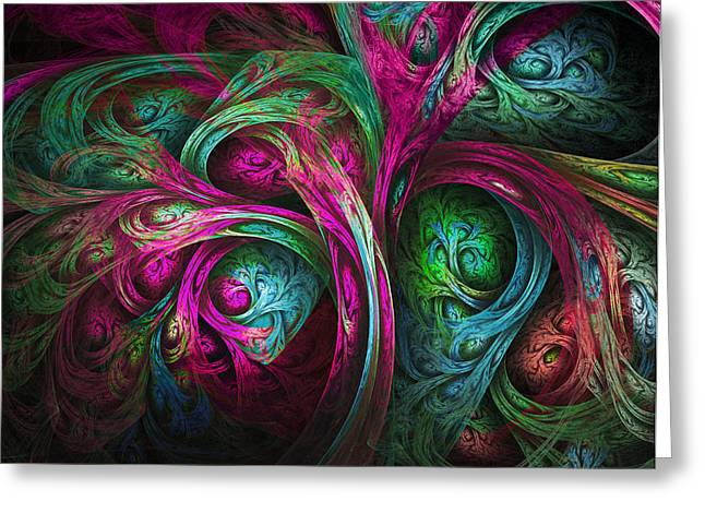 Tree Of Life-pink And Blue Greeting Card by Tammy Wetzel