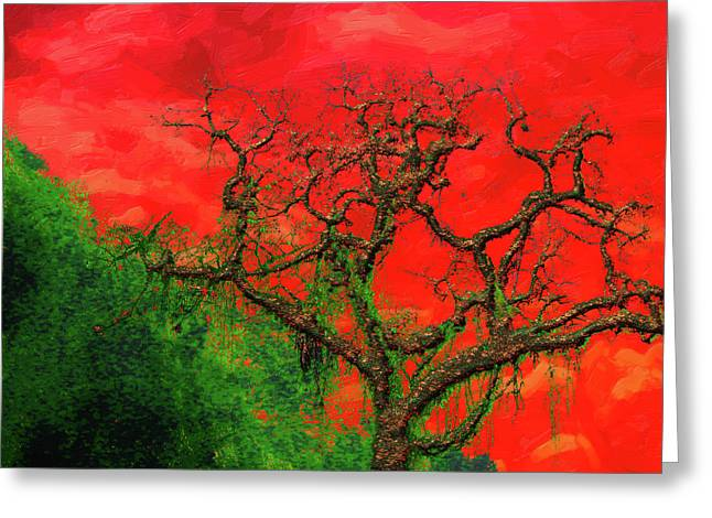 Tree Of Life - Red Dawn Greeting Card