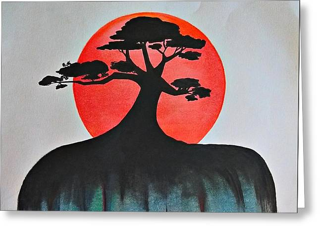 Tree Of Life Greeting Card by Sara Edwards